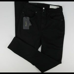 Rag & Bone High Rise Jeans - black, new with tags